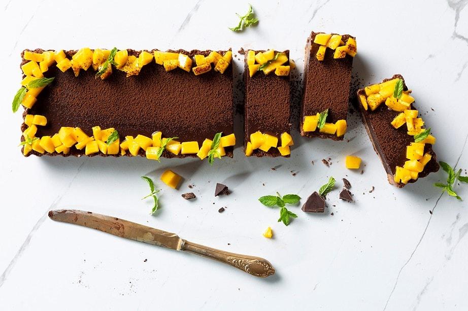 טארט שוקולד מנגו