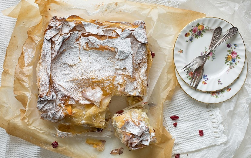 עוגת גבינה פילו