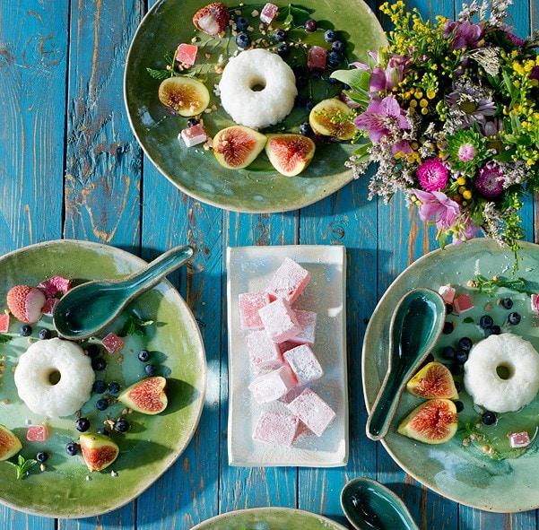 אורז מתוק ופירות קיץ