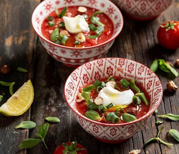 מרק עגבניות קר