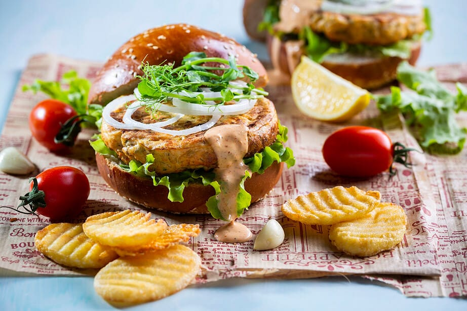 המבורגר סלמון